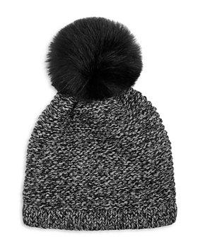 Kyi Kyi - Knitted Faux Fur Pom Pom Hat