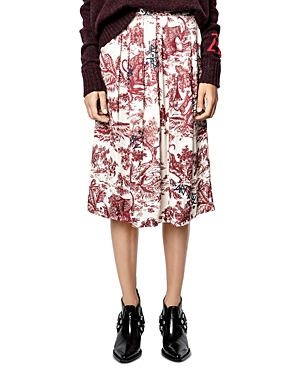 Zadig & Voltaire JUDE JOUY PRINTED PLEATED SKIRT