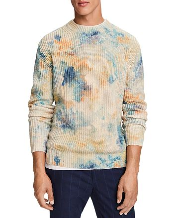 Scotch & Soda - Cotton Blend Ice Dyed Print Slim Fit Sweater