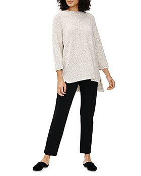 Eileen Fisher - Dotted Crewneck Tunic Top