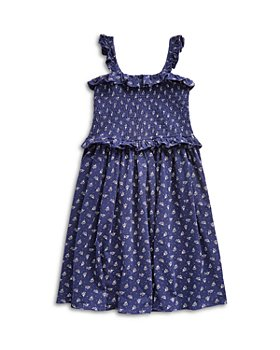 Ralph Lauren - Girls' Smocked Floral Print Cotton Dress - Big Kid