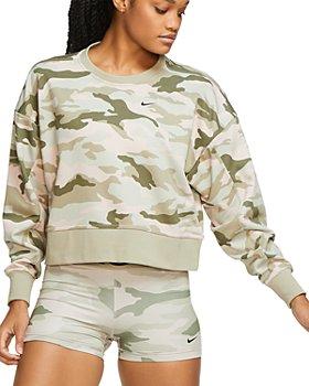 Nike - Dry Get Fit Camo Cropped Sweatshirt