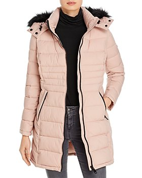 Calvin Klein - Faux Fur-Trim Puffer Coat