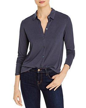 Majestic Filatures - Long Sleeve Button Front Shirt