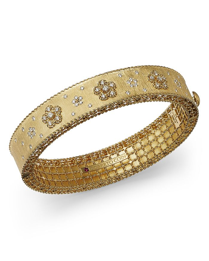 Roberto Coin - 18K Yellow Gold Daisy Lux Diamond Bangle Bracelet - 100% Exclusive