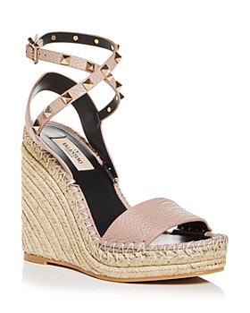 Valentino Garavani - Women's Rockstud Double Espadrille Wedge Sandals