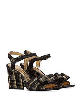 Salvatore Ferragamo - Women's Printed Suede Strappy High Heel Sandals