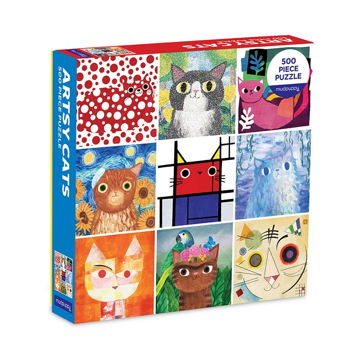 Chronicle Books - Family Artsy Cats 500 Piece Puzzle