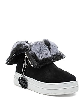 J/Slides - Women's Tristan Faux Fur Lined Waterproof Sneaker Boots
