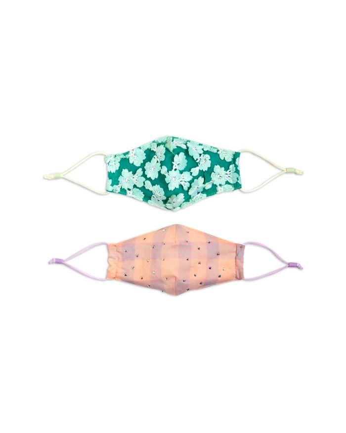 Lele Sadoughi Girls' Lagoon Sweetheart Face Masks, Set of 2   | Bloomingdale's