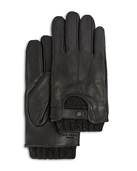 Ted Baker - Knitted Ribbed Leather Gloves