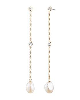 Ralph Lauren - Imitation Pearl Chain Drop Earrings
