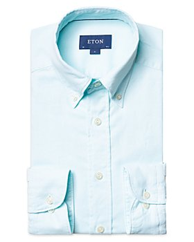 Eton - Cotton Oxford Rounded Cuff Contemporary Fit Casual Shirt