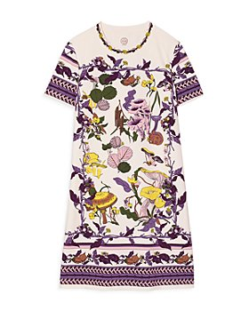Tory Burch - Mushroom Party Cotton T-Shirt Dress