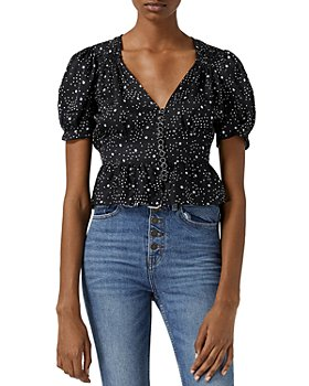 The Kooples - Buttoned Star Motif Top