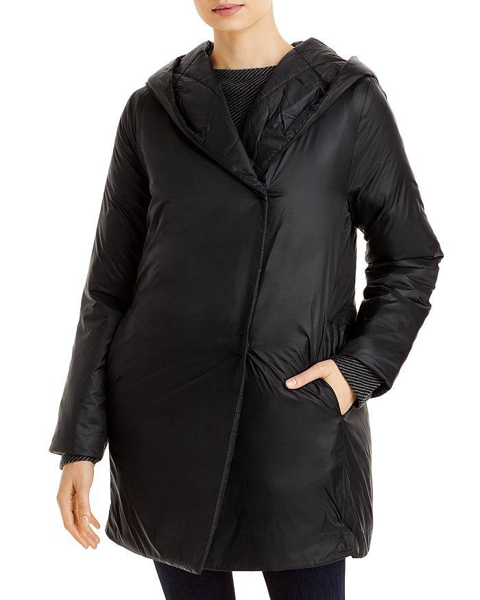 Eileen Fisher - Hooded Shawl Collar Coat