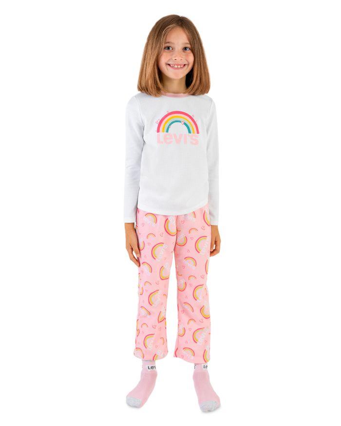 Levi's Girls' Rainbow Pajama Set - Little Kid, Big Kid  | Bloomingdale's