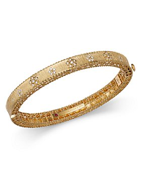 Roberto Coin - 18K Yellow Gold Diamond Daisy Bangle Bracelet - 100% Exclusive