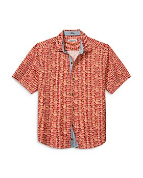 Tommy Bahama - Geometric Print Silk Camp Shirt