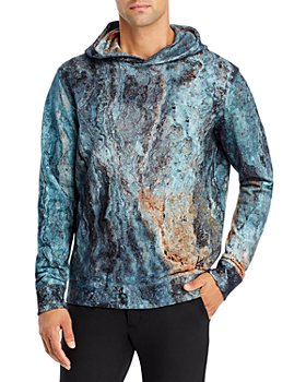 HUGO - Dodran Cotton Abstract Print Hoodie