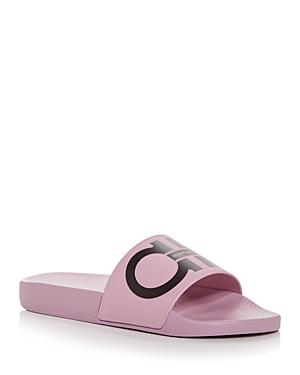 Ferragamo Women's Groovy Gancini Slide Sandals