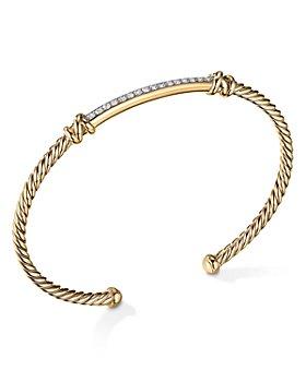 David Yurman - Petite Helena Two Station Wrap Bracelet in 18K Yellow Gold with Diamonds