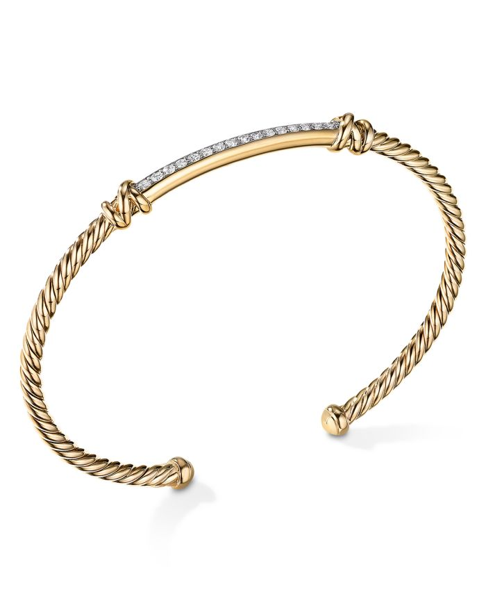 David Yurman Petite Helena Two Station Wrap Bracelet in 18K Yellow Gold with Diamonds  | Bloomingdale's