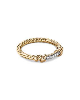 David Yurman - Petite Helena Wrap Ring in 18K Yellow Gold with Diamonds