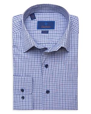 David Donahue Check Fusion Dress Shirt-Men