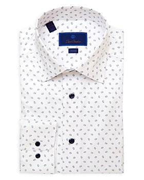 David Donahue - Teardrop Trim Fit Dress Shirt