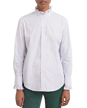 Ambra Striped Ruffle Shirt