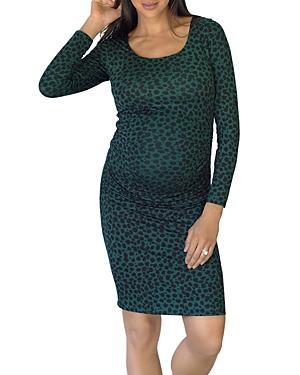 Side Shirred Maternity Dress