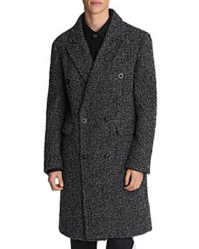 KARL LAGERFELD PARIS - Bouclé Double Breasted Coat with Removable Vest Liner