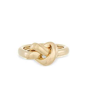 Adina Reyter 9K YELLOW GOLD CHUNKY TUBE KNOT RING