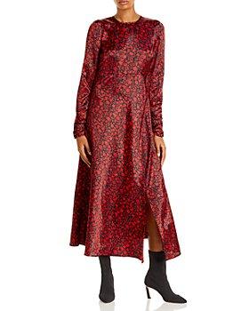 AQUA - Floral Print Midi Dress -100% Exclusive