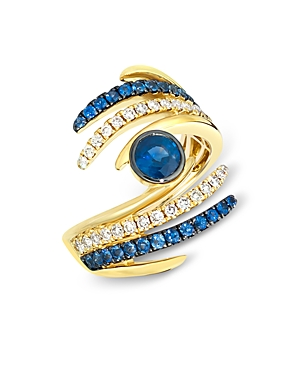Bloomingdale's Sapphire & Diamond Statement Ring in 14K Yellow Gold - 100% Exclusive