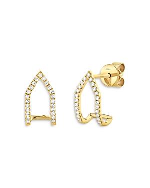 Moon & Meadow 14K Yellow Gold Diamond Arc Earrings - 100% Exclusive