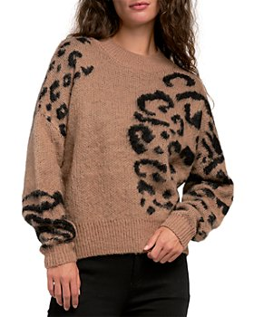 Elan - Leopard Cropped Sweater