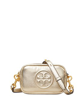 Tory Burch - Perry Bombe Mini Metallic Leather Crossbody
