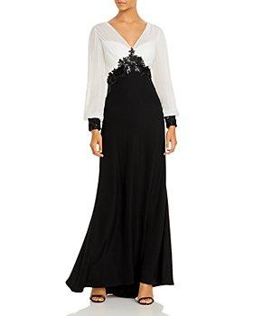 Tadashi Shoji - Embroidered Chiffon Gown