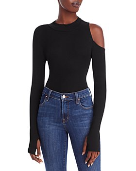 LNA - Pam Ribbed Cutout Top