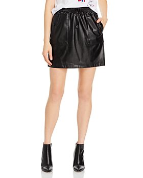 KARL LAGERFELD PARIS - Faux Leather Mini Skirt