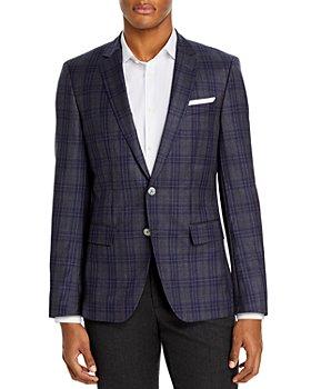 BOSS - Hutson Plaid Slim Fit Sport Coat