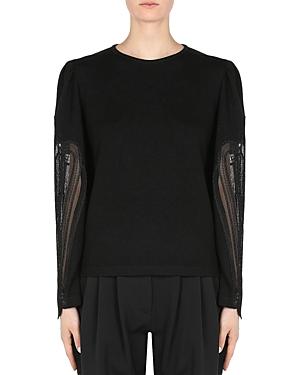 Alberta Ferretti Lace Sleeve Sweater-Women