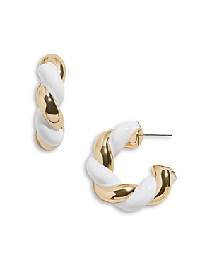 Baublebar TWO TONE TWIZZLER HOOP EARRINGS