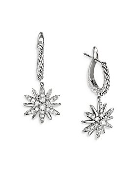 David Yurman - Starburst Cable Drop Earrings with Diamonds