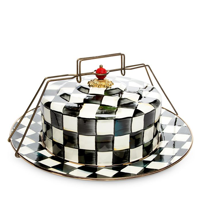 Mackenzie-Childs - Courtly Check Enamel Cake Carrier