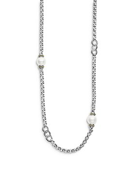 """LAGOS - Sterling Silver Signature Caviar Cultured Freshwater Pearl Station Necklace, 34"""""""