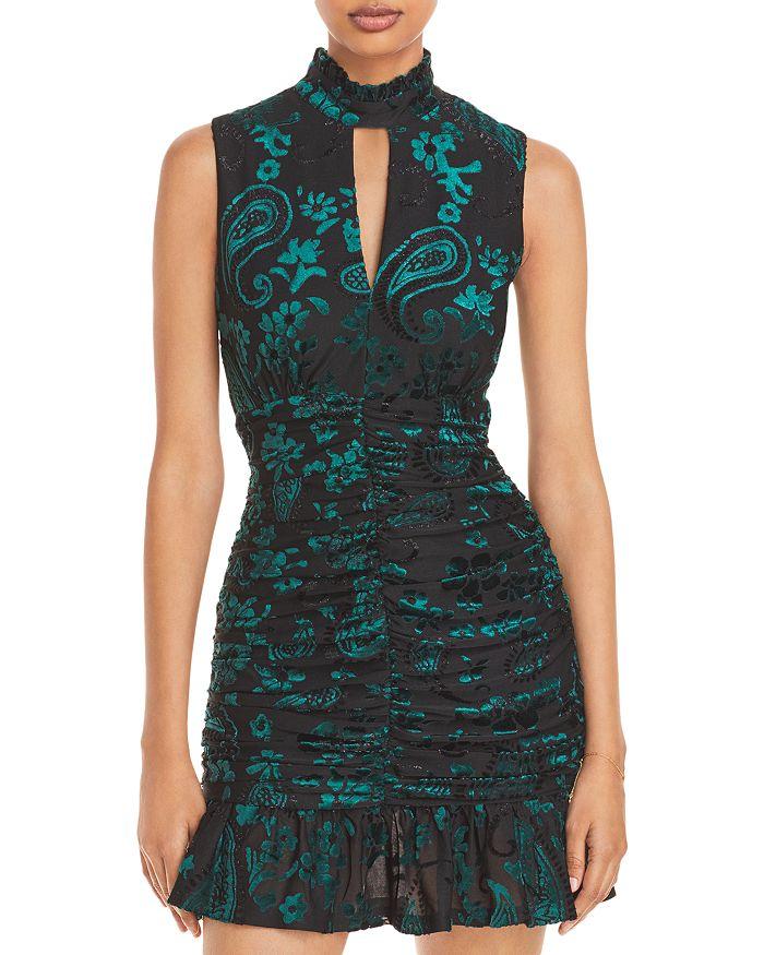 AQUA - Paisley Velvet Jacquard Dress - 100% Exclusive