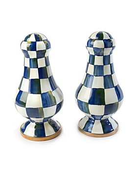 Mackenzie-Childs - Royal Check Large Salt & Pepper Shakers